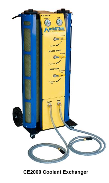 automotive coolant flush machine